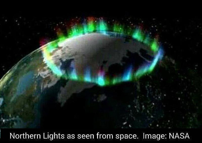 Aurora from space NASA