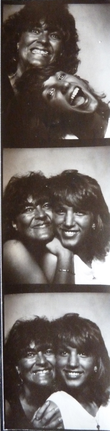 Mom Kristin with Dara in Hawaii when she was fourteen years old, both of us brown from the sun and happy.