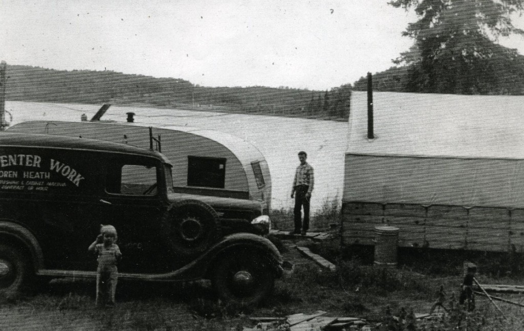 "Our first ""home"" on Sand Lake Road in Anchorage, 1952."