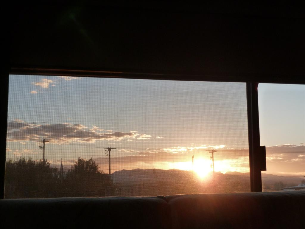 Sunrise from bed Feb 19 Benson AZ